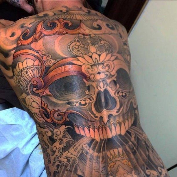 tattoo verzierter lachender skull r cken zuk nftige projekte pinterest skulls and tattoos. Black Bedroom Furniture Sets. Home Design Ideas