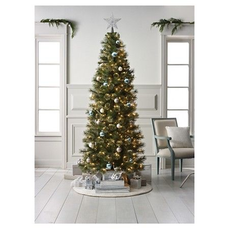 7 5ft Pre Lit Artificial Christmas Tree Slim Virginia Pine Clear Lights Target Christmas Tree Artificial Christmas Tree Tree