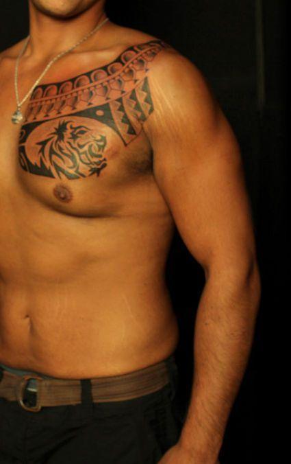 Lew Tatuaż Na Klatce Piersiowej Tattoos Tatuaż Tatuaże