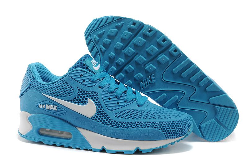 low priced 2c34f 07138 2014 Newest Nike Air Max 90 Azure White Mens Shoes