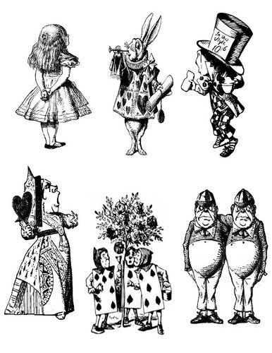 Alice And Wonderland Prop Characters Pdf Wonderlandpartyexpress