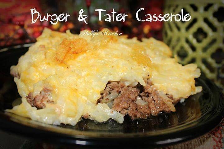 BURGER & TATER CASSEROLE | Perfect for a family dinner! #shearers #shearerssnacks #familydinner #dinnerisserved