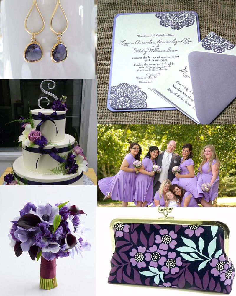 Lilac Purple And Navy Blue Wedding Inspiration Purple Wedding