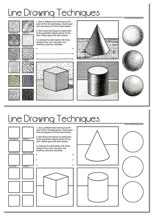 Worksheets Free Art Worksheets line drawing a guide for art students perspective teaching and students