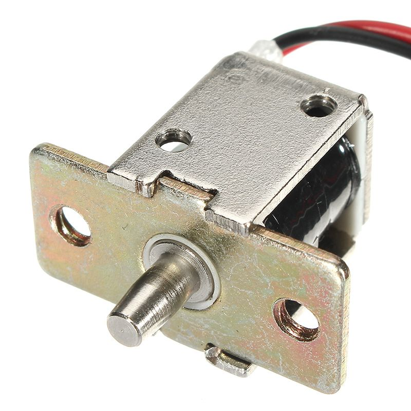 12v Dc 0 5a Mini Perno Electrico Cerradura Gabinete Cilindrico De Empuje Cerradura Carrera De 5 Mm Electric Bolt Cabinet Locks Bolt Lock