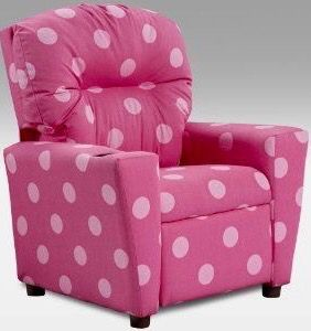 Cute Pink W White Polka Dots Comfy Chair Super Cute