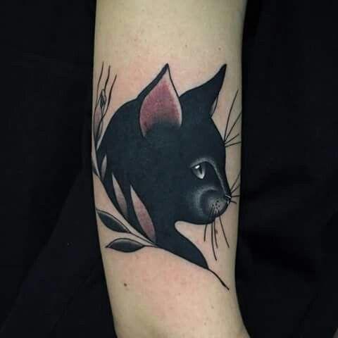 32 Majestic Cat Portrait Tattoos Tattoos 3 Black Cat Tattoos