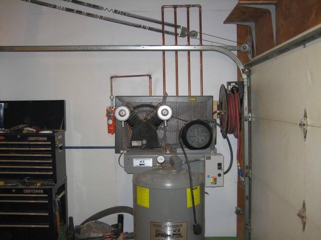 Show Us Your Compressor Plumbing And Manifolds The Garage Journal Board Plumbing Compressor Garage Organization Diy