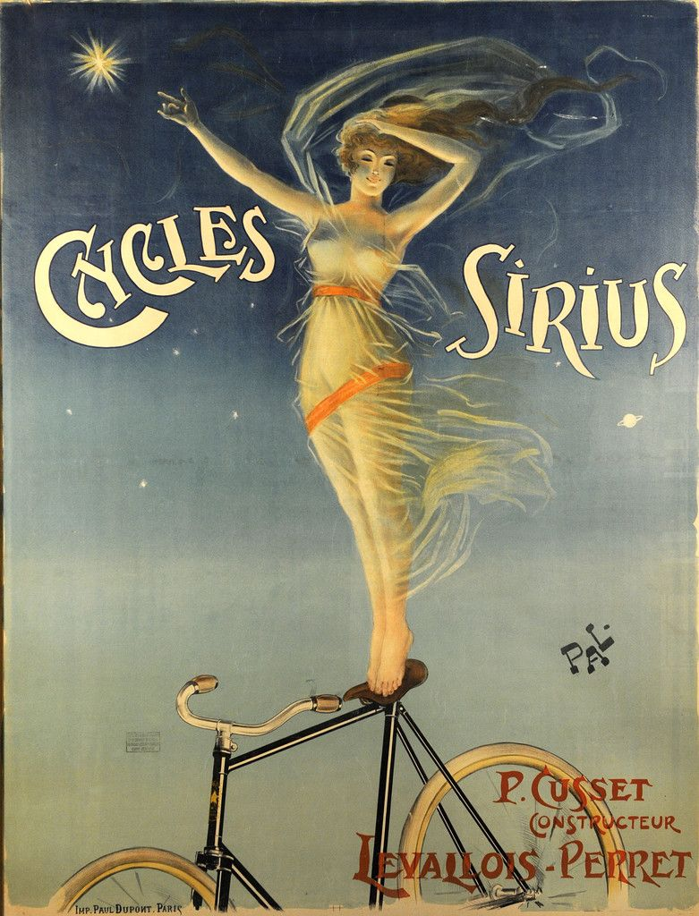 """/""""Cycles Brilliant/"""" Art Nouveau 1900 French Bicycle Poster 20x28"""