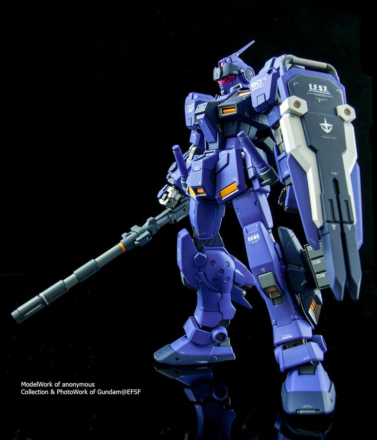 gundam guy hg 1 144 rx 80pr pale rider customized build blue