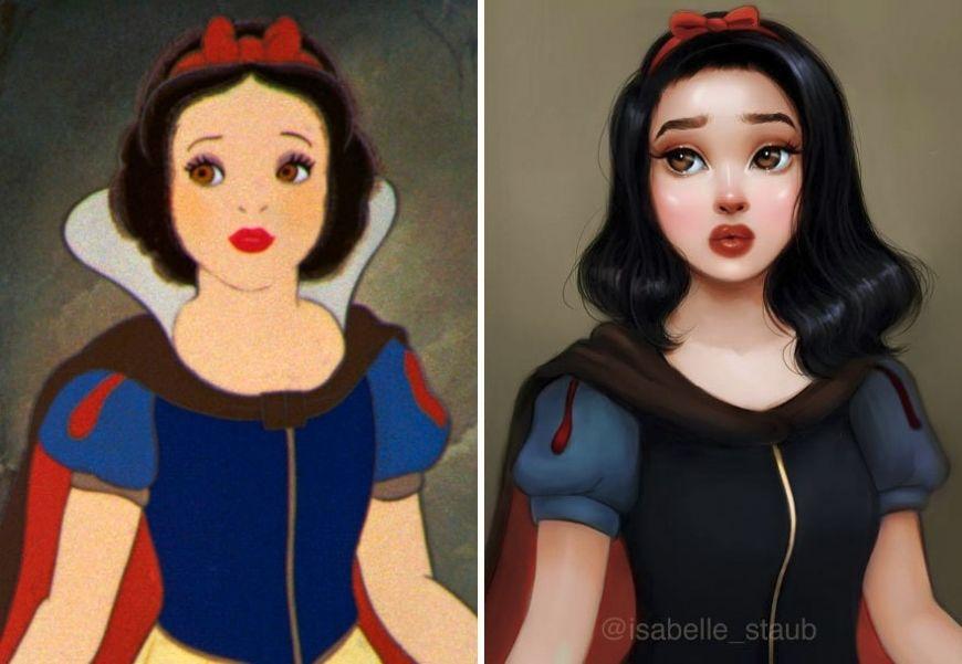 Redrawn Realistic Snow White Snow White And The Seven Dwarfs Disney Princess Art Disney Drawings Disney Fan Art