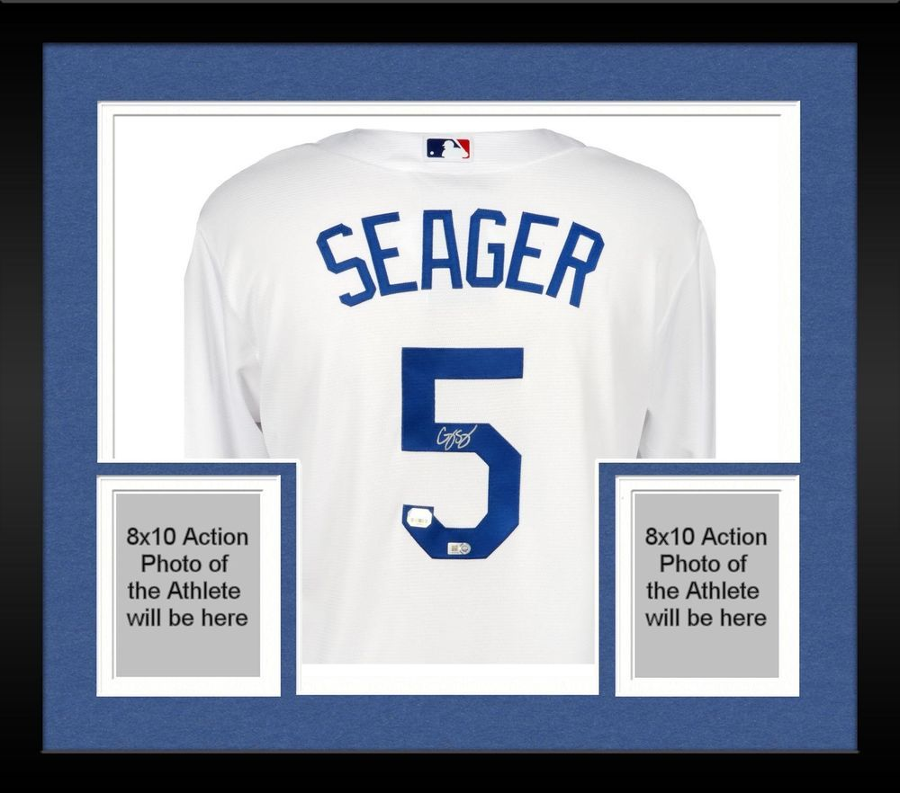 Framed Corey Seager Los Angeles Dodgers Autographed White Replica Jersey 80e7f4075