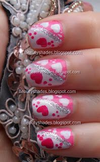 Hearts Valentine's Day Nail Art