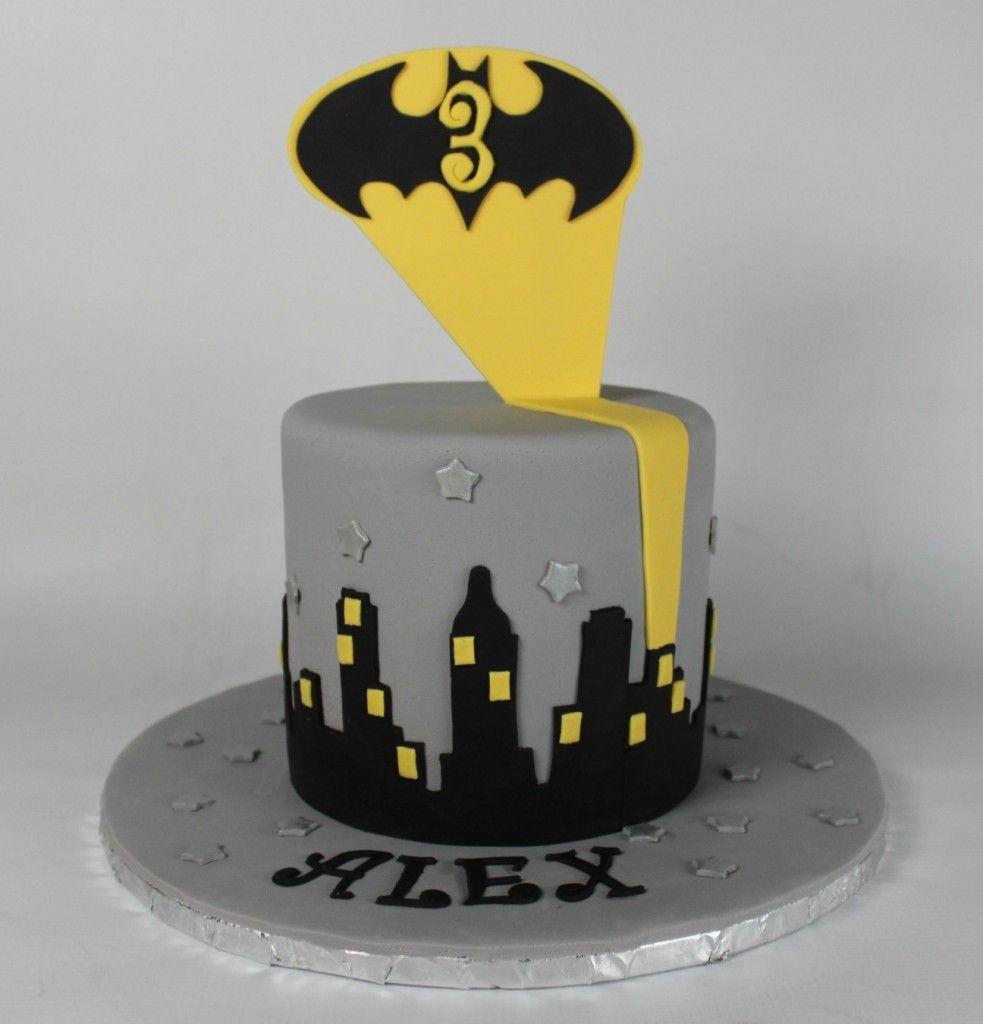 Simple Batman Cake Cake Pinterest Batman cakes Batman and Cake