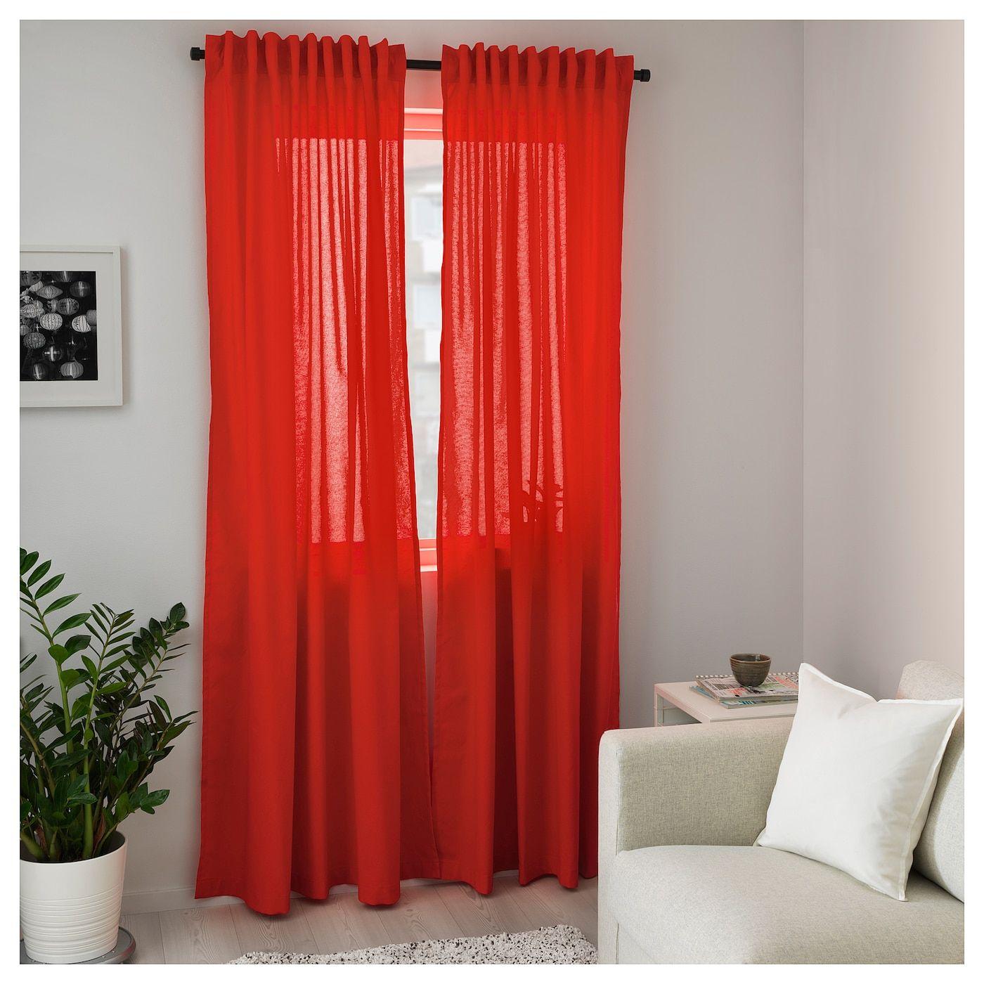 Annalouisa 2 Gardinenschals Rot Ikea Osterreich Red Curtains
