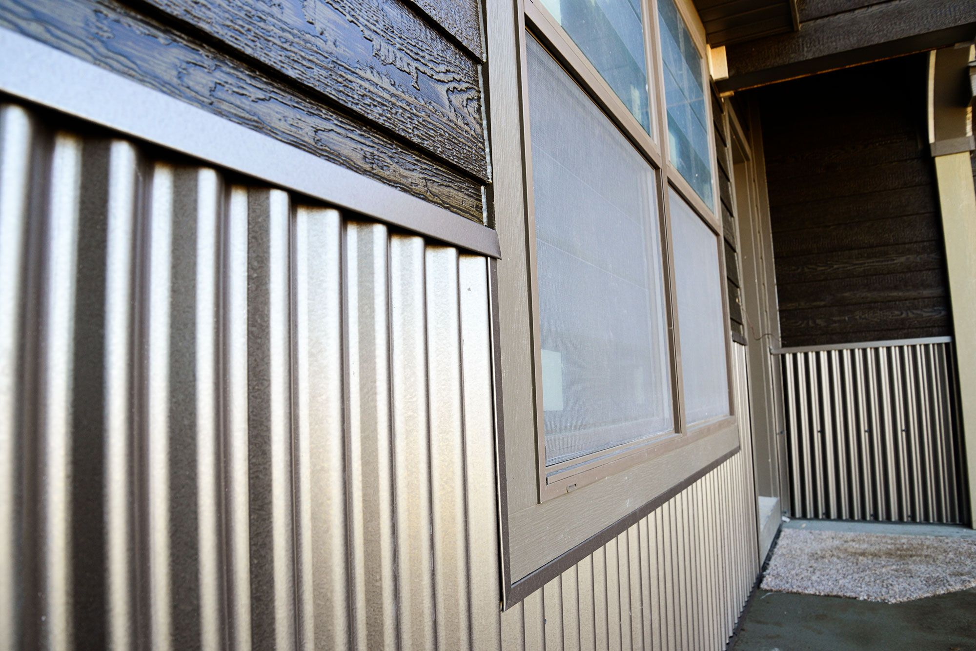 5 Ways To Update Your Home With Corrugated Metal Metal Siding House Steel Siding Corrugated Metal Siding