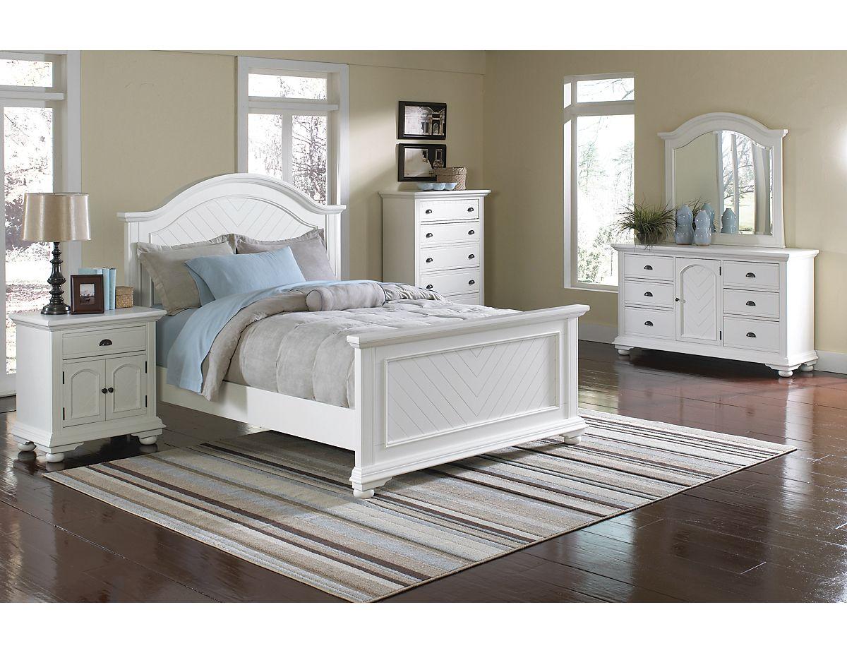 Brook 8-Piece Queen Bedroom Set – Off-White , (BP700QPK8) | The ...