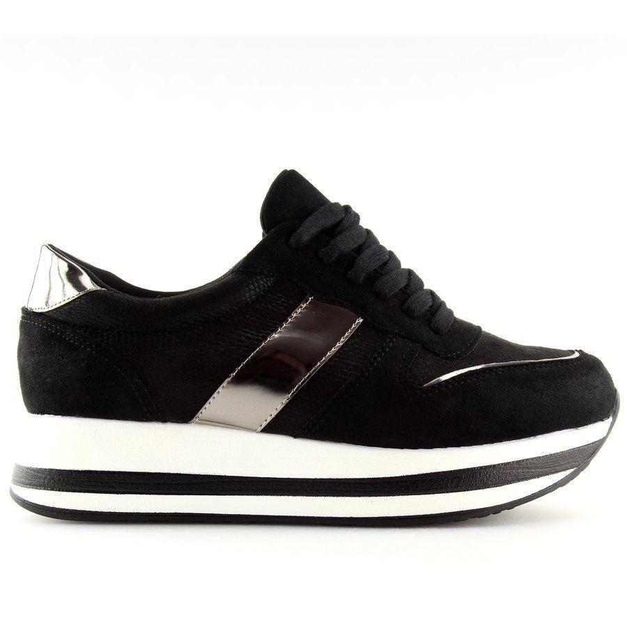 Buty Na Wysokiej Podeszwie Czarne 99 11 Black High Top Sneakers Shoes Sneakers