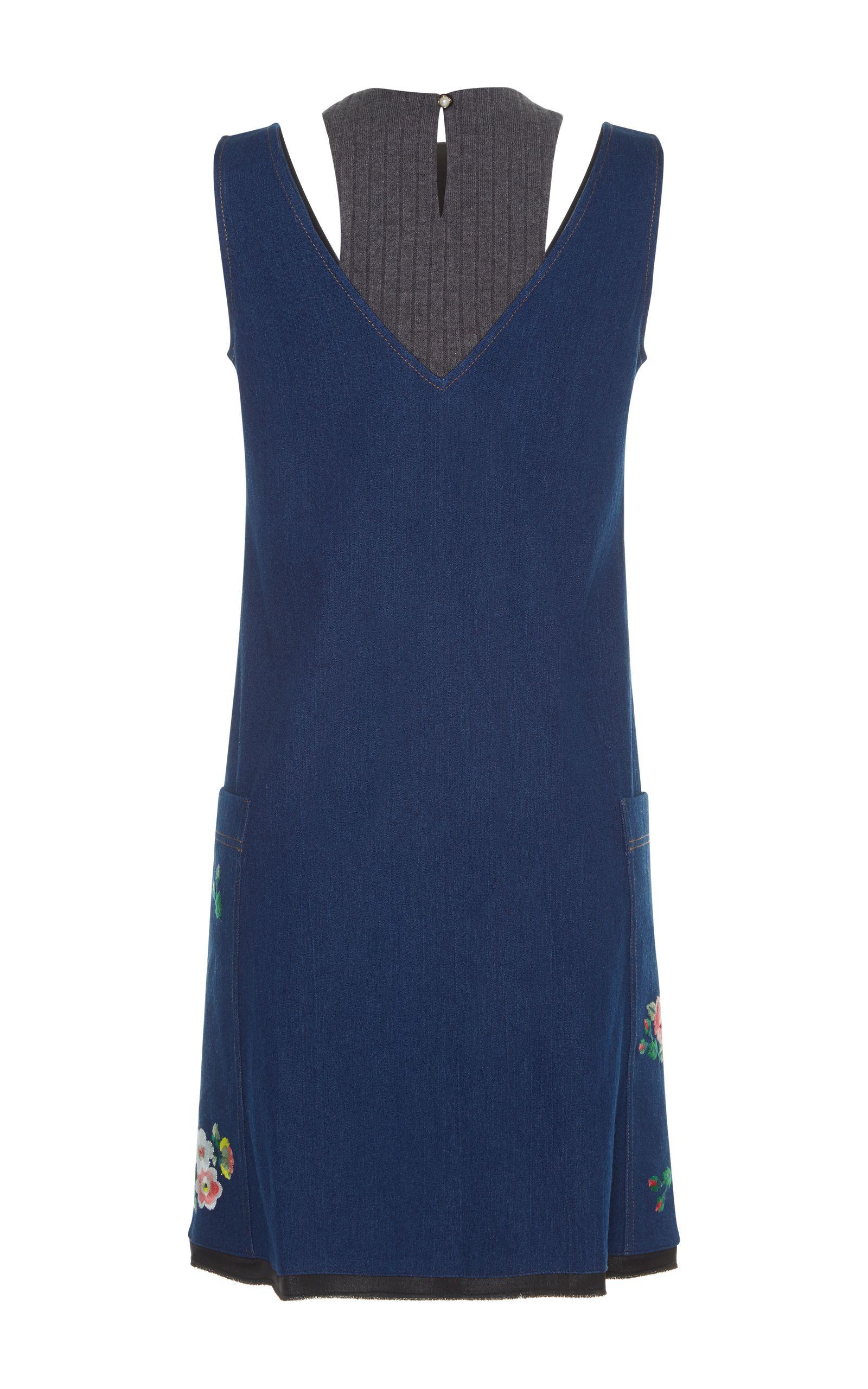 Adona Racerneck Combo Dress by ZAYAN THE LABEL for Preorder on Moda Operandi