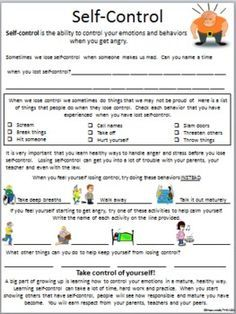 Worksheets For Adhd Children - Davezan