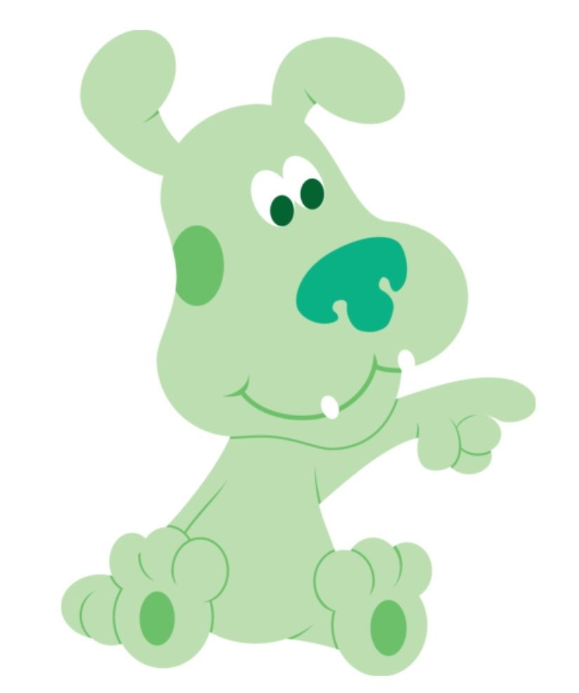 cartoon characters blue u0027s clues oh my gosh green puppy