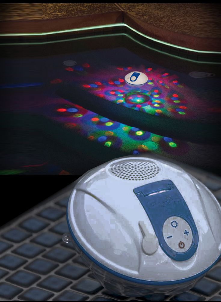 Bluetooth Led Color Changing Light Show And Speaker All Terrain Entertainment In And Out Of The Pool From Light Show Color Changing Led Color Changing Lights