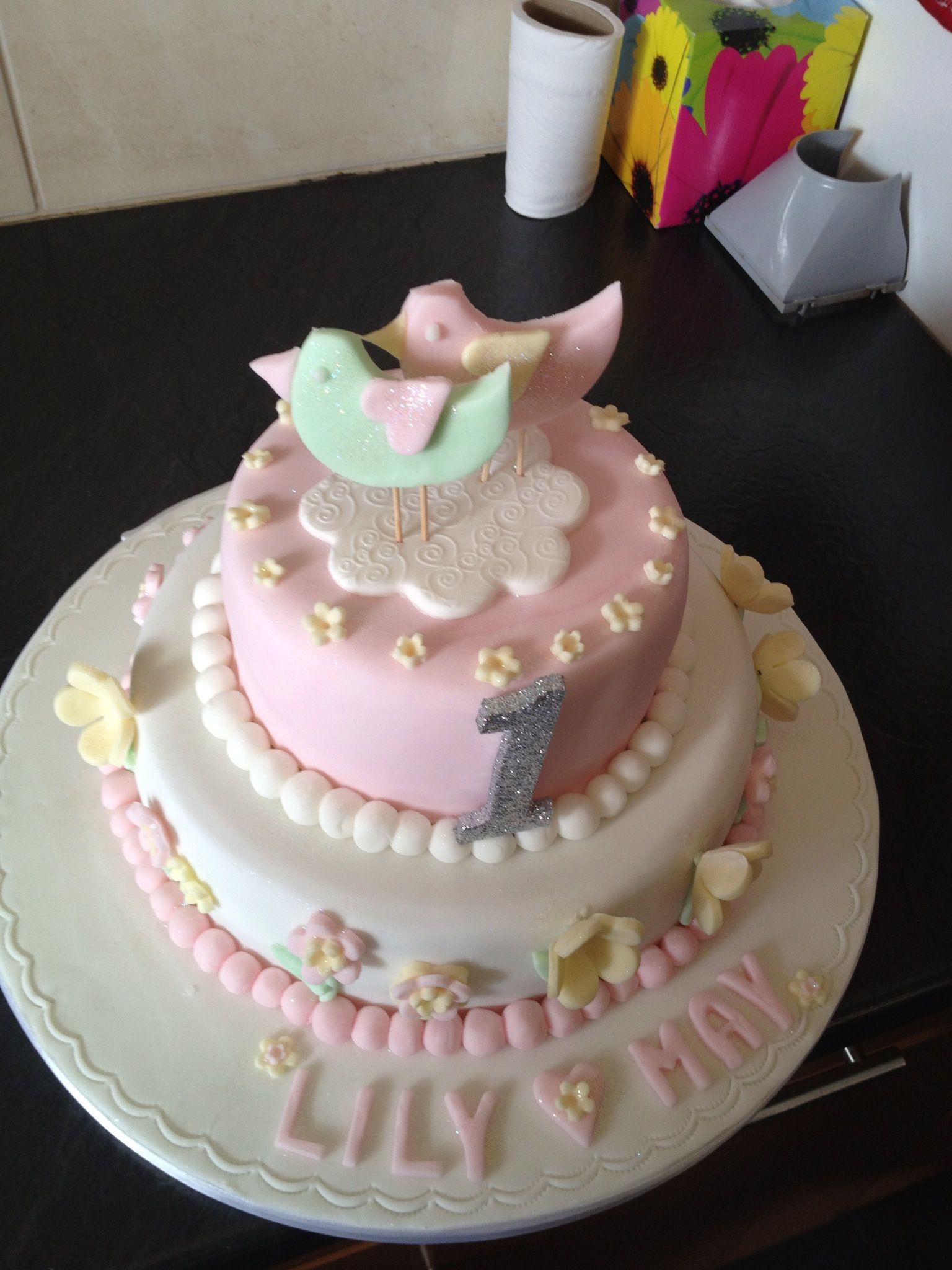 1st Birthday Cake The Bluebell Bakery The Bluebell Bakery