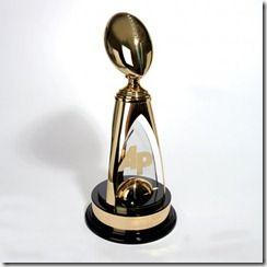 Image result for NFL MVP trophy