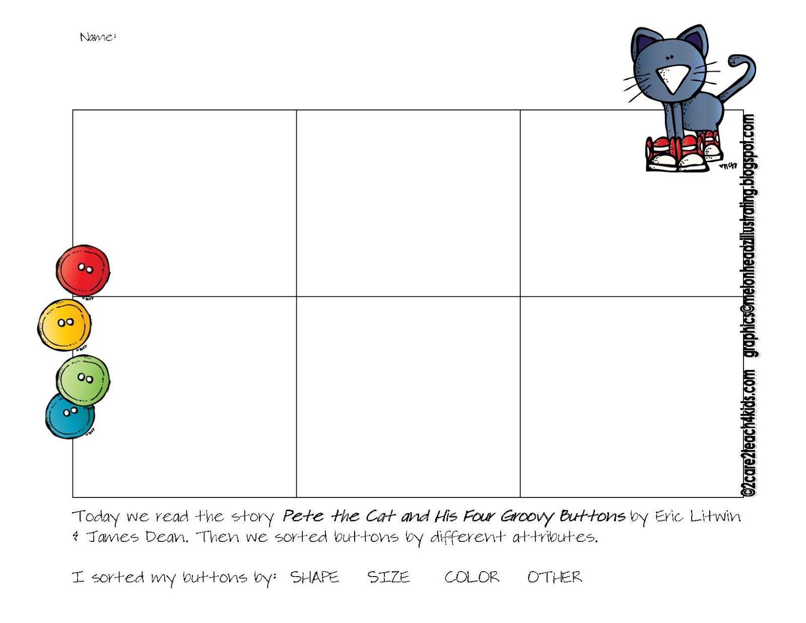 Pete The Cat Worksheets For Kindergarten
