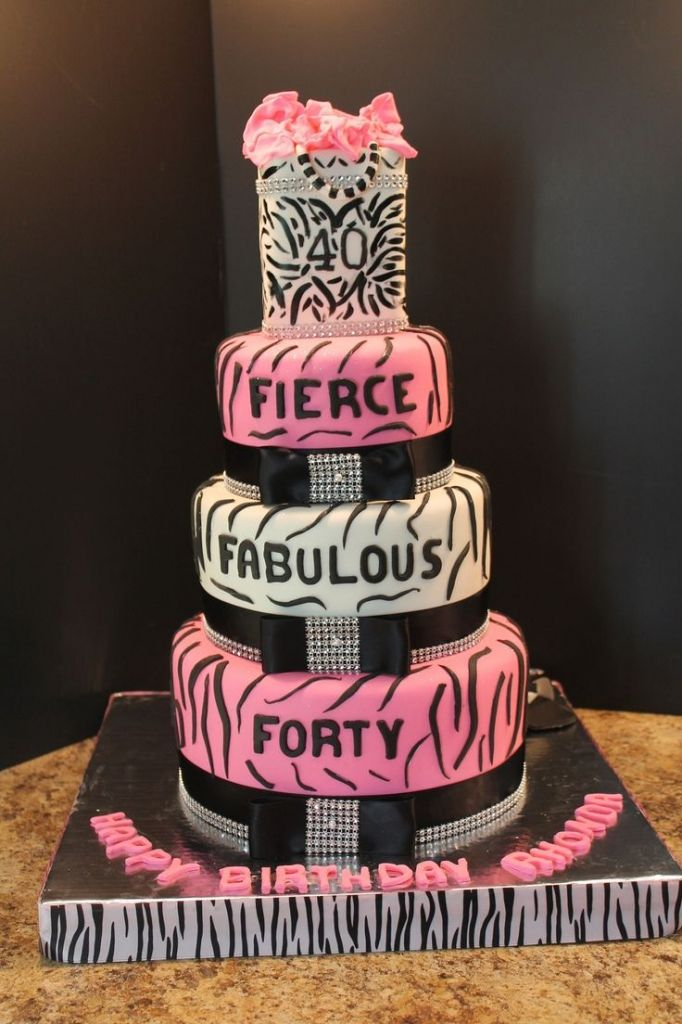 40th Birthday Party Cake Ideas My 40th Birthday Cake Fierce