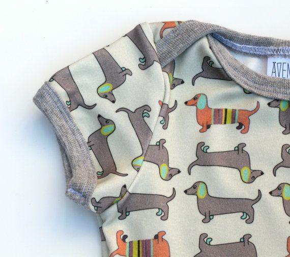 Grey Shirt ORGANIC CAMPING Baby Bodysuit