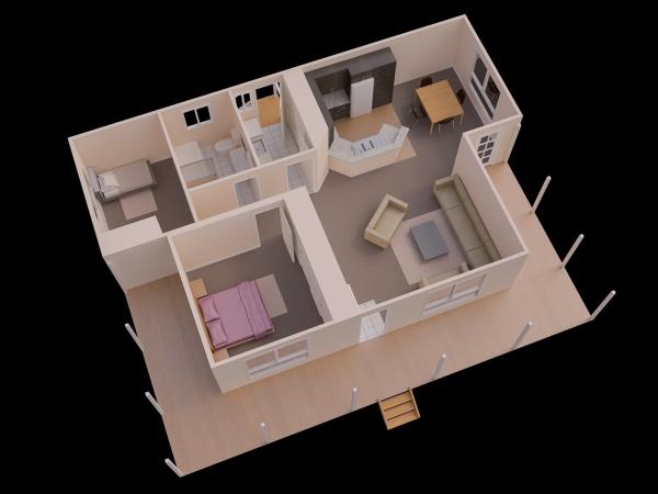 25 More 2 Bedroom 3d Floor Plans Simple House Plans 2 Bedroom House Plans