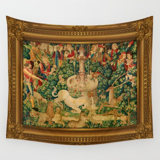 The Unicorn is Found Wall Tapestry