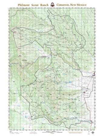 Philmont New Mexico Map.Philmont Overall Wall Map Product Philmont Pinterest Thru
