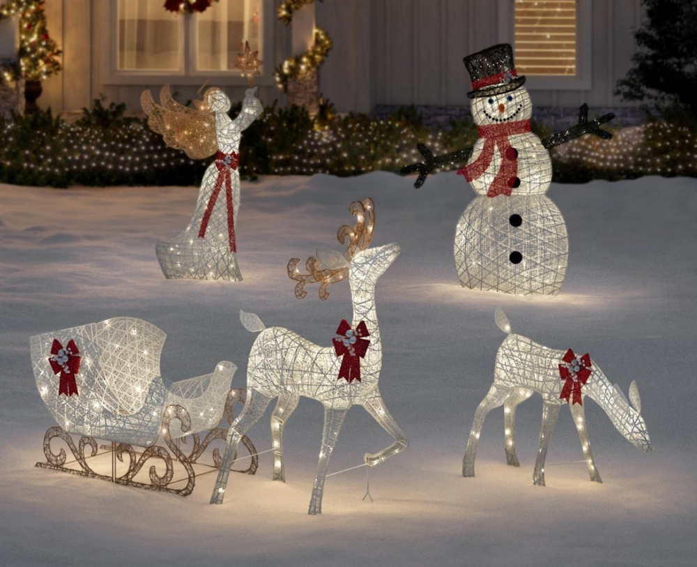 Christmas Decorations The Home Depot Holiday Decor Christmas Reindeer Decorations Christmas Decorations Diy Outdoor