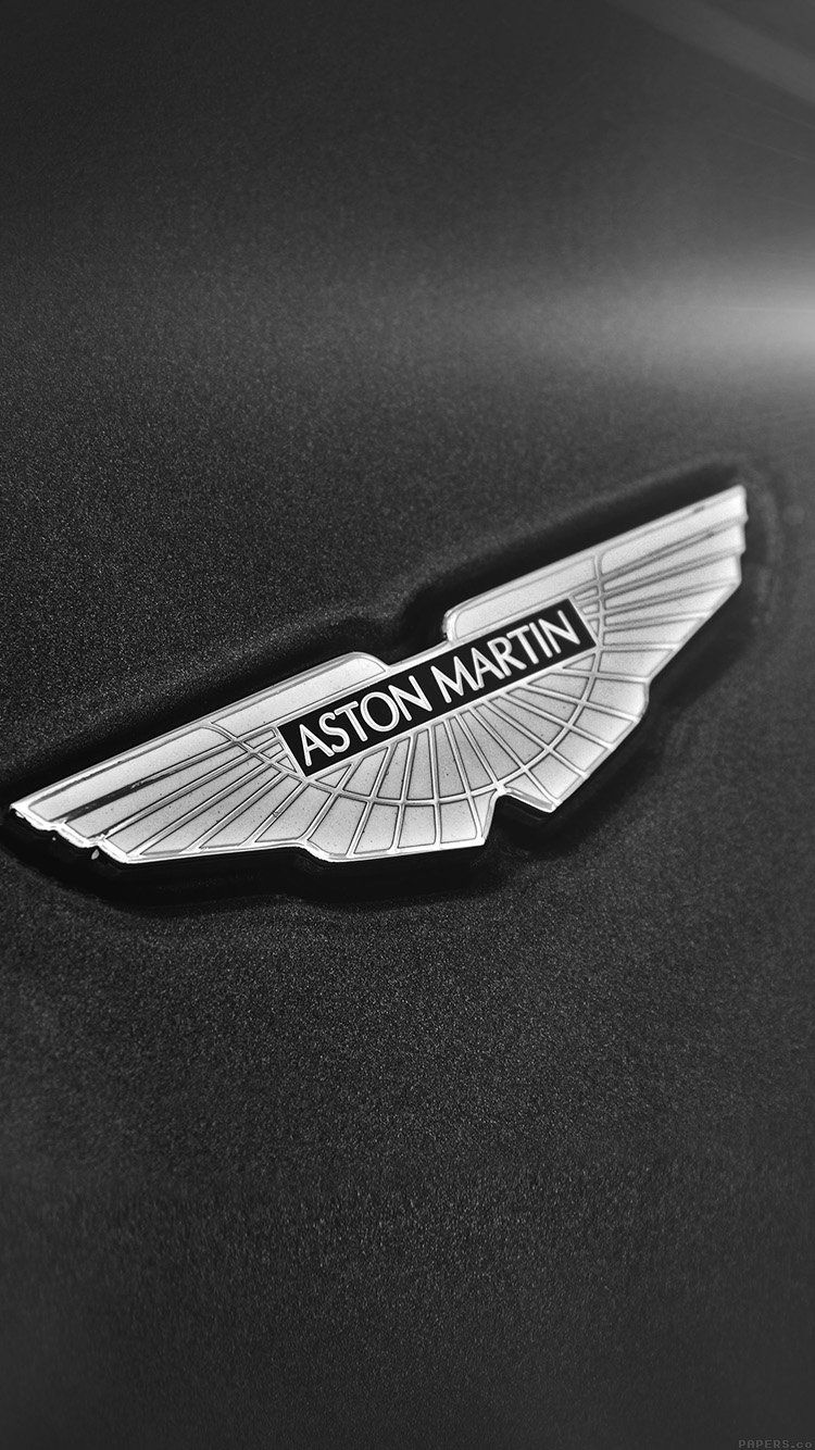 Aston Martin Logo Car Bw Dark Wallpaper Hd Iphone Aston Martin