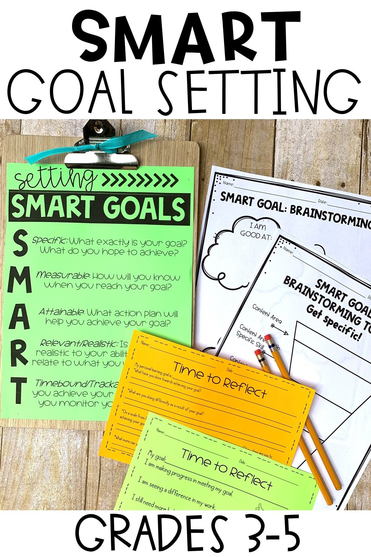 Smart Goal Setting Sheets For Students