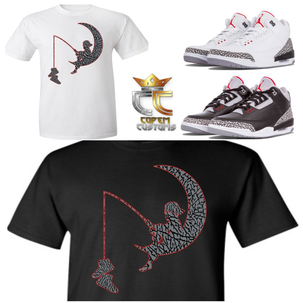 31dc3eed564b EXCLUSIVE TEE T SHIRT 2 to match NIKE AIR JORDAN 3 CEMENTS JTH ...