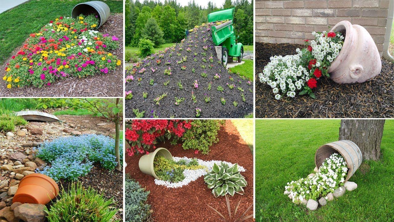 100 Most Beautiful Spilled Flower Pot Ideas Diy Garden Flower