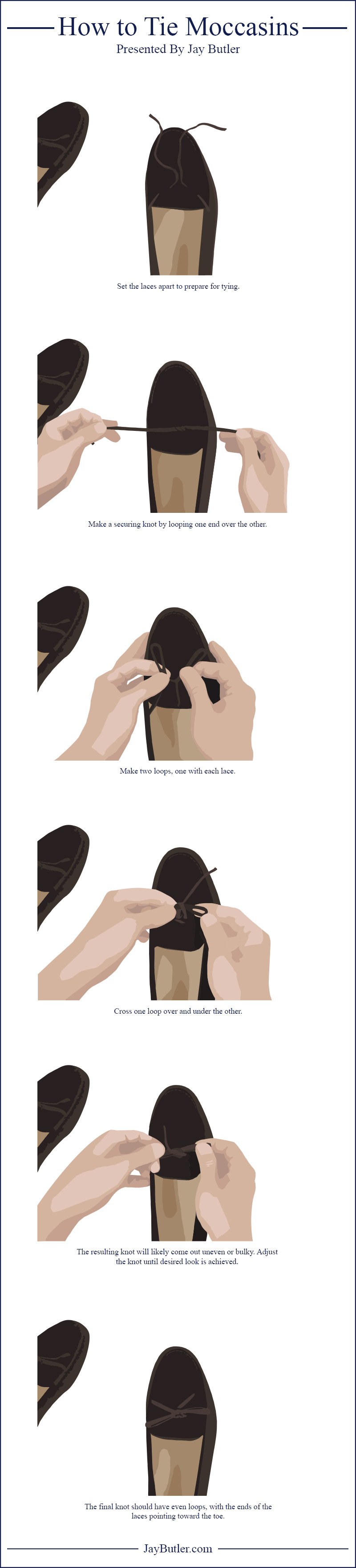 How To Tie Moccasins Moccasins Tie Fashion