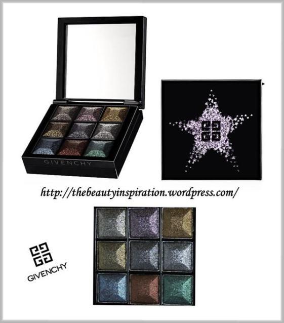 """Per le amanti delle tonalità forti e shimmer, Givenchy ha creato un nuovo prisme """"Le prismissime yeux noirs en folie"""", una palette con nove ombretti custoditi in una boîte di lacca nera con una stella d'argento sul coperchio."""