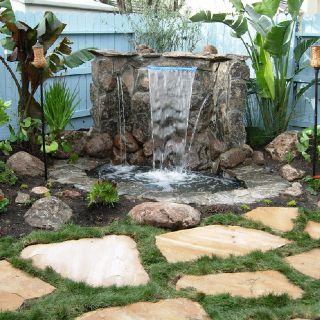 Love This Corner Fountain Waterfalls Backyard Backyard 400 x 300