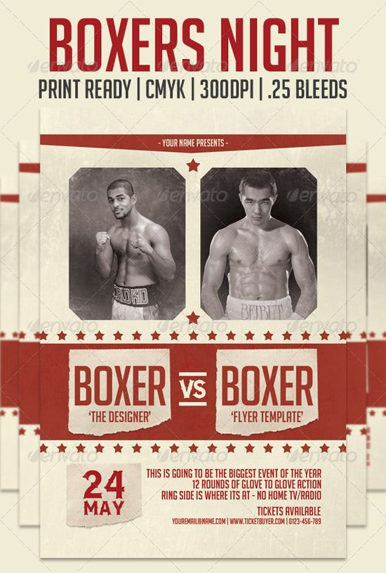 vintage boxing poster template - Google Search | God of Carnage ...