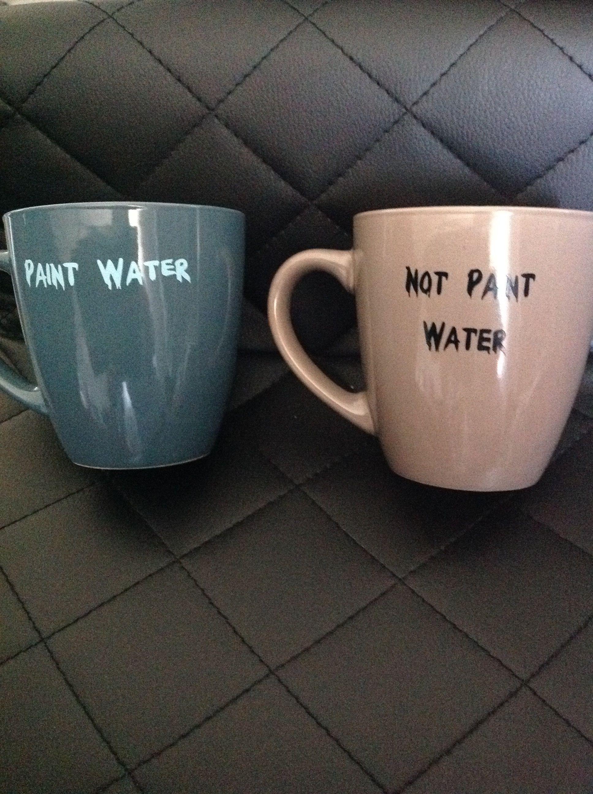 Paint water and not paint water mugs mugs cricut