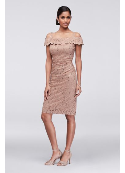 e2cd474b0f Short Sheath Off the Shoulder Cocktail and Party Dress - RM Richards ...