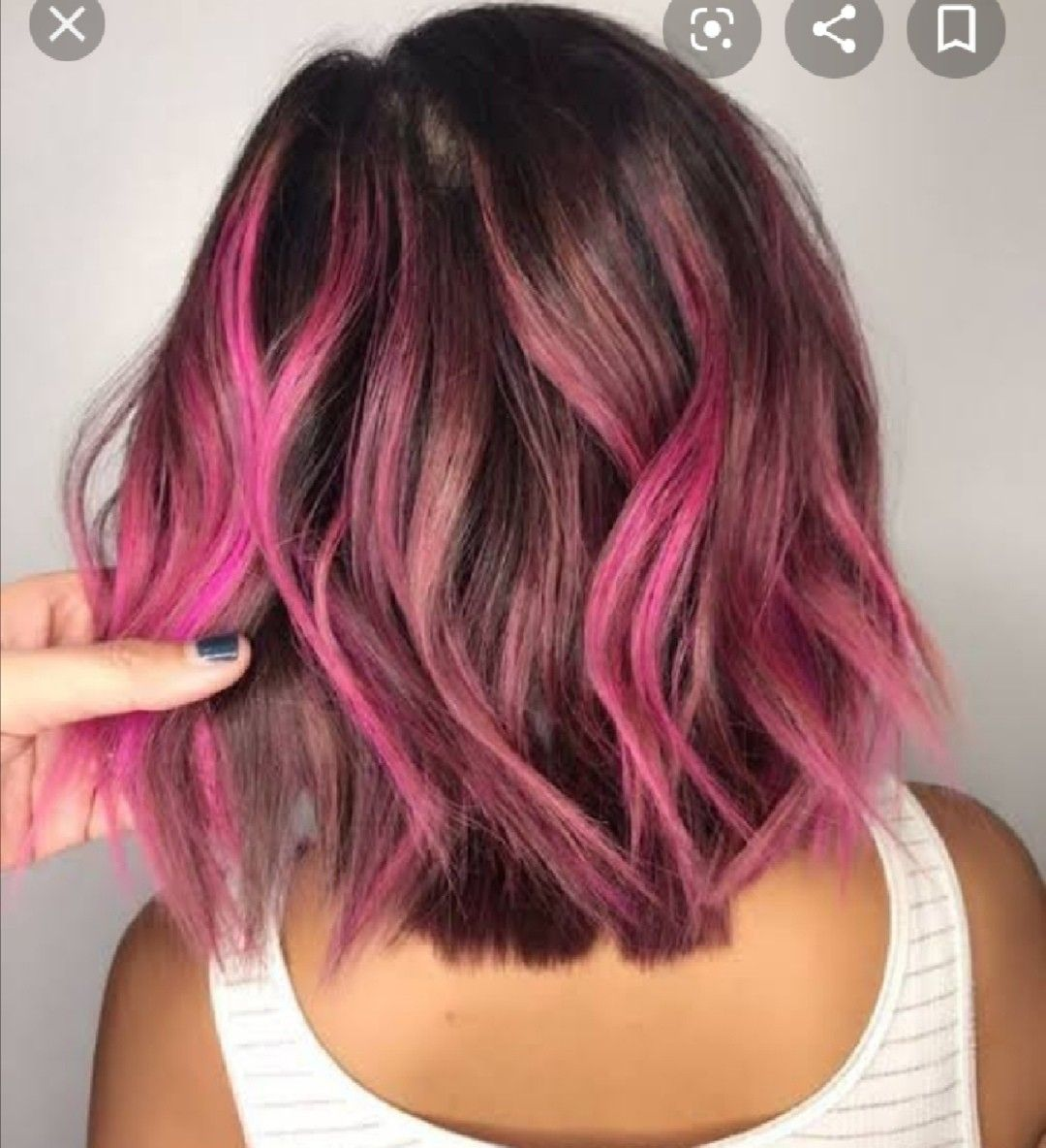 Pin By Pink Piscis On Hair In 2020 Pink Hair Highlights Hair Styles Pink Ombre Hair