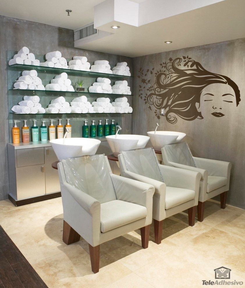 Vinilos Decorativos Fragancias 2 In 2020 Beauty Salon Decor Salon Suites Decor Hair Salon Decor