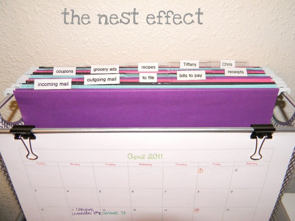 I can't wait to try this to organize mail and other paper clutter. Just in time for back to school! The Nest Effect: Project 2.1: Mail Station