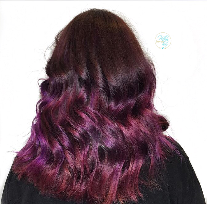 Vivid color melt - Magenta, pink, and purple hair color - by ...