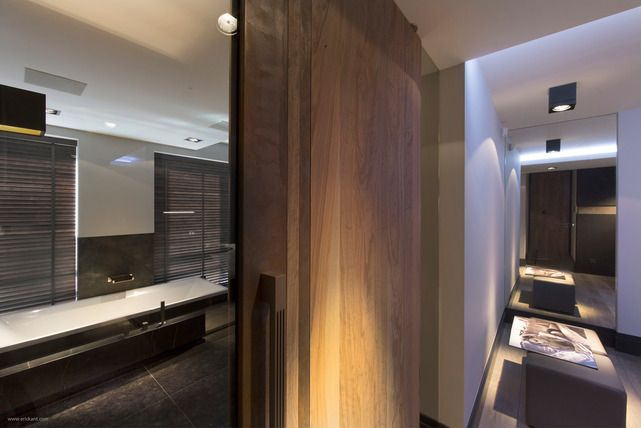 Rich wood and slate grey contemporary bathroom eric kant contemporary design totaal renovatie landhuis · luxury interior